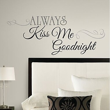 RoomMates Always Kiss Me Goodnight Peel and Stick Wall Decal, Black
