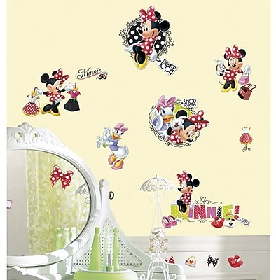 RoomMates Minnie Loves to Shop Peel and Stick Wall Decal