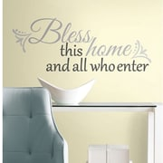 RoomMates Bless This Home Peel and Stick Wall Decal