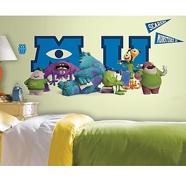 RoomMates Monsters University Peel and Stick Giant Character Collage Wall Decals, Blue