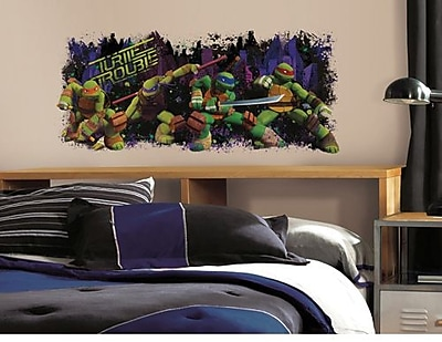 RoomMates TMNT Turtle Trouble Peel and Stick Giant Wall Decal