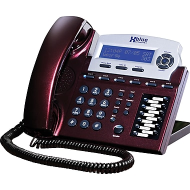 XBLUE X16 6-Line Speakerphone, Red Mahogany