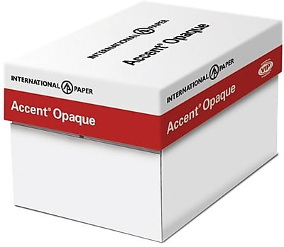 """IP Accent® Opaque 8 1/2"""" x 14"""" 60 lbs. Digital Smooth Multipurpose Paper, White, 5000/Case"""