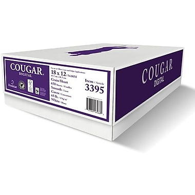 Cougar® 65 lbs. Digital Smooth Cover, 18in. x 12in., White, 650/Case