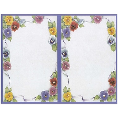 Great Papers® Pretty Pansies 2-UP Invitations, 16/Pack
