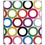 Sugarland Collection 1-Inch Round 3-Ring Binder, Multicolor