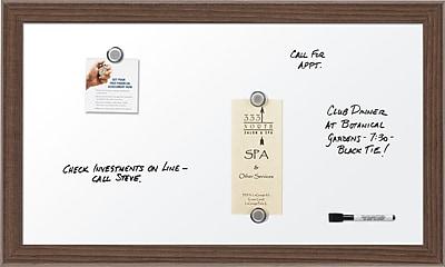 Quartet Magnetic Dry-Erase Board, Walnut Frame, 18