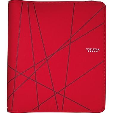 Five Star 1.5-Inch Round 3-Ring Zipper Binder, Red (72356)