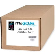 """Magiclee/Magic Siena 200L 50"""" x 100' Coated Lustre Microporous Photobase Paper, Bright White, Roll (64074)"""