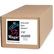 "Magiclee/Magic VSF 36"" x 75' 12.5 mil Valeron polyolefin Matte Banner, Bright White, Roll"