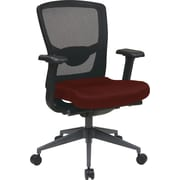 Office Star Pro-Line II™ ProGrid® Fabric/Mesh High Back Executive Chair, Burgundy