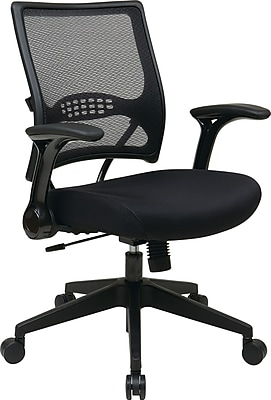 Office Star SPACE Fabric Managers Office Chair, Adjustable Arms, Black (67-37N1G5)