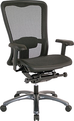 Office Star Proline II Mesh Managers Office Chair, Adjustable Arms, Black (93720)
