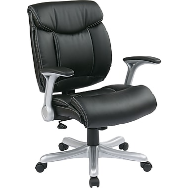 Office Chairs Adjustable Arms office star eco leather executive office chair, adjustable arms