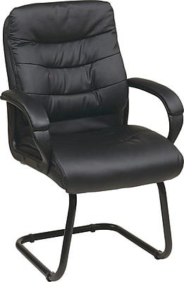 Office Star Worksmart Metal Guest Chair, Black (FL7485-U6)