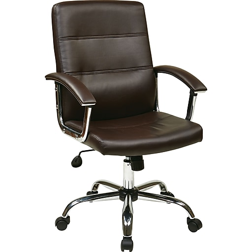 Office Star Ave Six Leather Executive Office Chair
