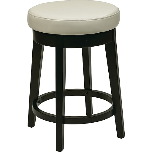 "Office Star OSP Designs 24"" Bar Stool, Cream (MET1924-CM)"