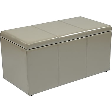 Office Star OSP Designs Eco Leather 3 Piece Ottoman Set