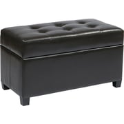 Office Star OSP Designs Vinyl Storage Ottoman, Espresso