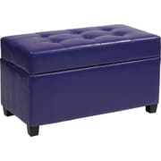 Office Star OSP Designs Vinyl Storage Ottoman, Purple