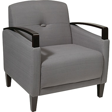 Office Star Ave Six® Fabric Main Street Chair, Charcoal