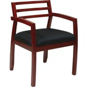 Office Star Napa Hardwood Guest Chair, Black Cherry (NAP91CHY-3)