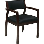Office Star Napa Hardwood Guest Chair, Black/Espresso (NAP95ESP-3)