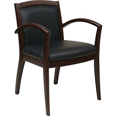 Office Star Napa Hardwood Guest Chair, Black/Espresso (NAP97ESP-EC3)