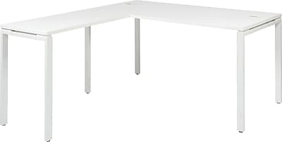 Office Star Prado Complete L-Shaped Workstation, White (PRD3060-WH )