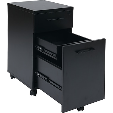 Office Star Pro-Line II™ Prado Laminate/Metal Pulls Mobile File Cabinets