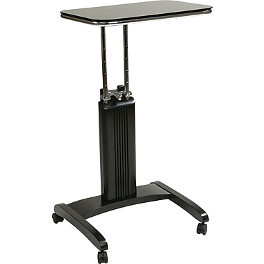 Office Star OSP Designs Solid Wood Precision Laptop Stand, Black