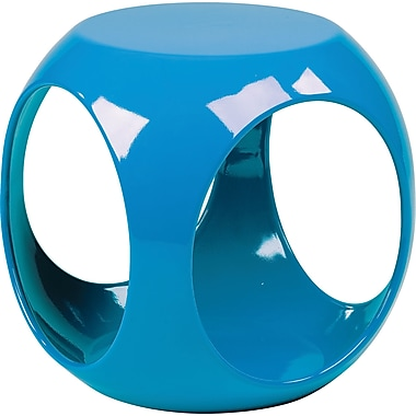 Office Star Ave Six® Resin Slick Cube, Blue