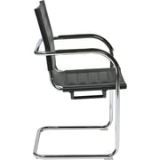 Office Star Ave Six Trinidad Metal Guest Chair, Black (TND945A-BK)