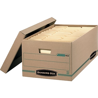 Bankers Box® Enviro Stor™ Legal-Size Storage Box, 4/Pack (9024)