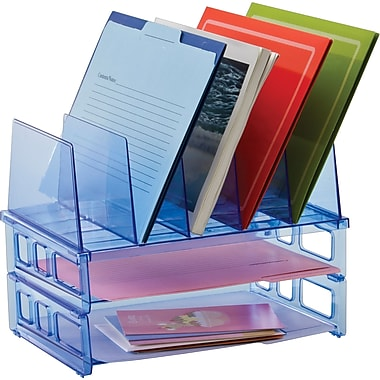 Officemate® Blue Glacier Large Standard Sorter with 2 Letter Trays