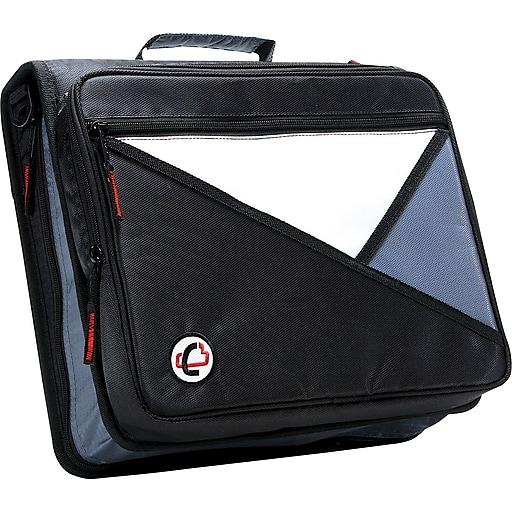 Case-it Universal 2-Inch Round 3-Ring Zipper Binder, Black