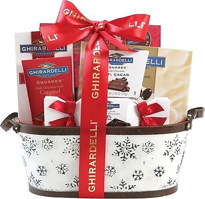Ghiradelli Assortment Gift Basket with Red Bow