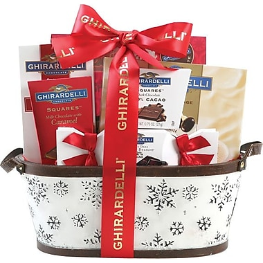 Ghiradelli® Assortment Gift Basket with Red Bow