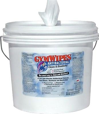 GymWipes® Antibacterial Disinfectant Wipes, Self-Dispensing Bucket, 700 Wipes per Bucket, Case of 2