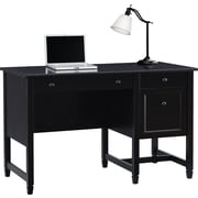 "Sauder® Edgewater Single Pedestal-Desk, Estate Black, 29 1/2""H x 47 1/8""W x 23 3/8""D"