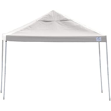 ShelterLogic 12' x 12' Straight Leg Pop-up Canopy with Black Roller Bag, White Cover