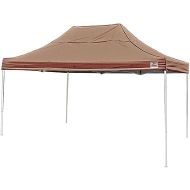 ShelterLogic 10' x 15' Straight Leg Pop-up Canopy with Black Roller Bag, Desert Bronze Cover