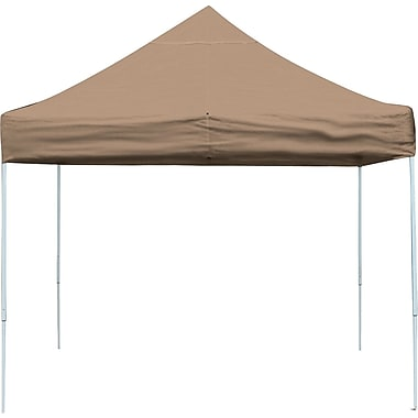 ShelterLogic 10' x 10' Straight Leg Pop-up Canopy with Black Roller Bag, Desert Bronze Cover