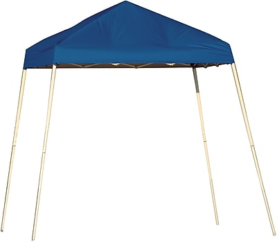 ShelterLogic 8' x 8' Slant Leg Pop-up Canopy with Carry Bag, Blue Cover