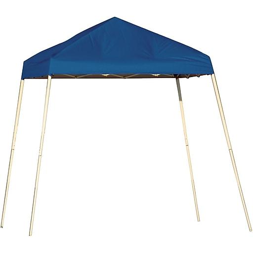 ShelterLogic 8' x 8' Slant Leg Pop-up Canopy with Carry Bag, Blue Cover