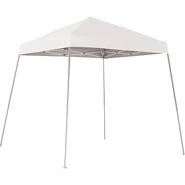 ShelterLogic 8' x 8' Slant Leg Pop-up Canopy with Carry Bag, White Cover
