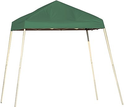 ShelterLogic 8' x 8' Slant Leg Pop-up Canopy with Carry Bag, Green Cover