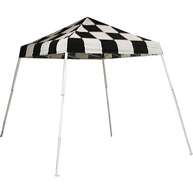ShelterLogic 8' x 8' Slant Leg Pop-up Canopy with Carry Bag, Checkered Flag Cover