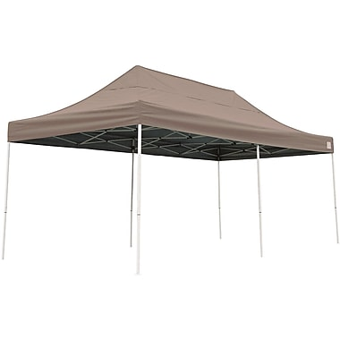 ShelterLogic 10' x 20' Straight Leg Pop-up Canopy with Black Roller Bag, Desert Bronze Cover