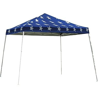 ShelterLogic 12' x 12' Slant Leg Pop-up Canopy with Black Roller Bag, Super Star Cover